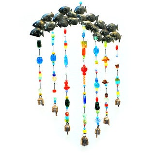 Handmade 'Just Keep Swimming' Wind Chime (India)