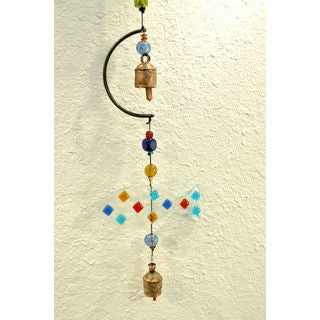 Handmade Glass Fish Wind Chime (India)