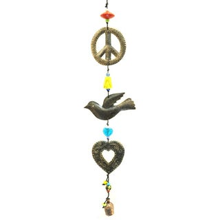 Handmade 'For the Love of Peace' Wind Chime (India)