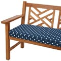 Navy Dots 60-inch Indoor/ Outdoor Corded Bench Cushion