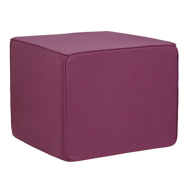 Brooklyn Orchid 22-inch Indoor/ Outdoor Corded Ottoman with Sunbrella Fabric