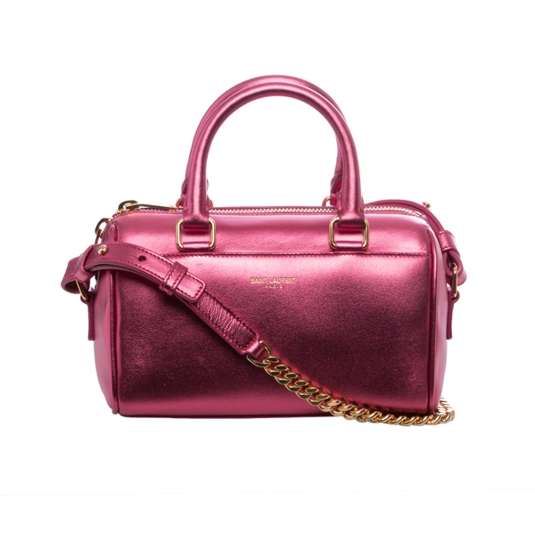 Saint Laurent Metallic Pink Duffle Toy Bag