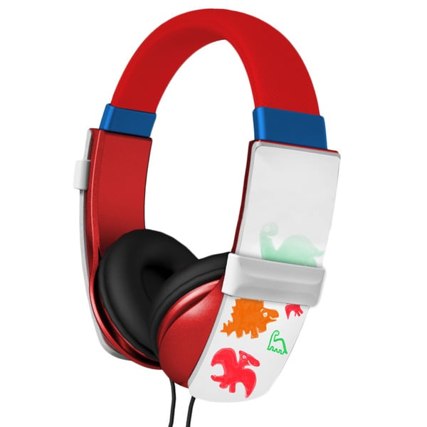 iHip IP-DOODLE-R Red Kid's Safe Doodle Erasable Drawing Headphones