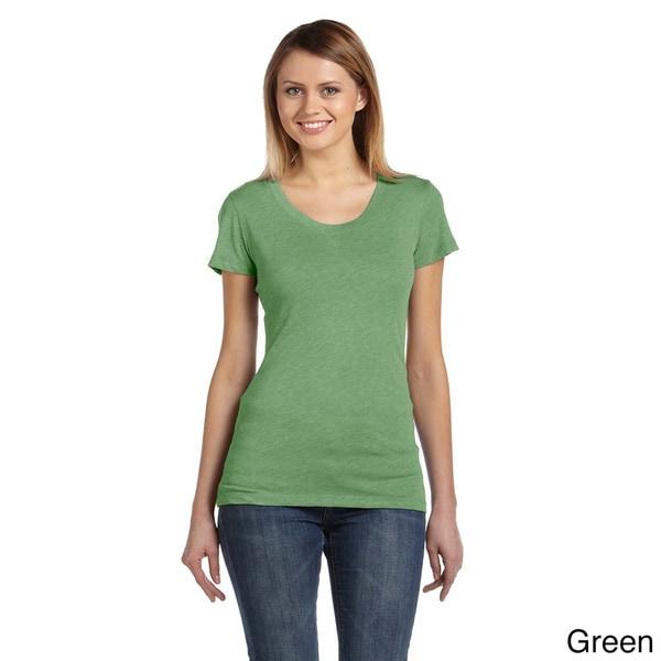 Bella Women's Tri-blend Scoop Neck T-shirt 12744162