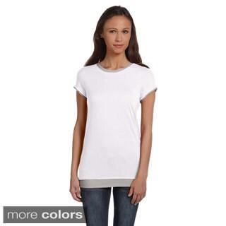 Bella Women's Sheer Jersey 2-in-1 T-shirt