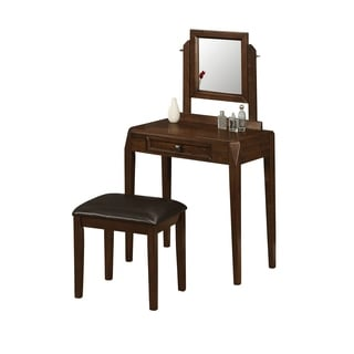 Brown Oak 2-piece Vanity Set