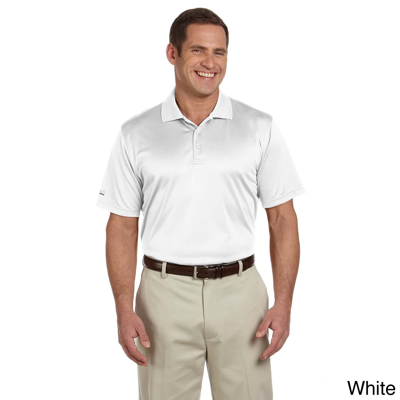 Izod men 39 s dobby performance polo shirt overstock for Best quality mens white t shirts
