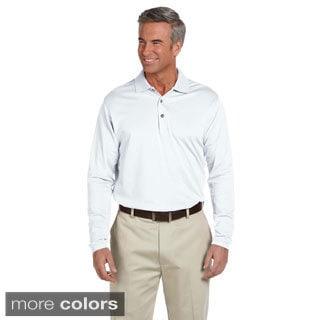 Ashworth Men's EZ-Tech Long Sleeve Polo Shirt