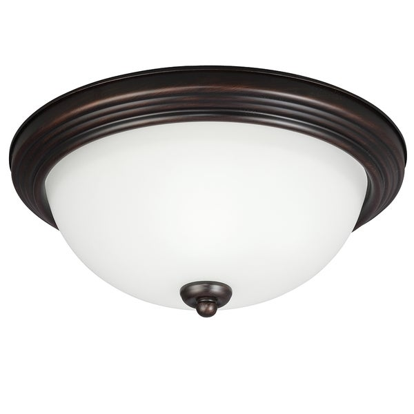 Medium LED Burnt Sienna Flush Mount