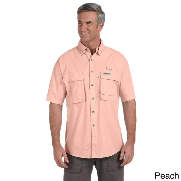 Hook & Tackle Men's 'Gulf Stream' Short Sleeve Fishing Shirt
