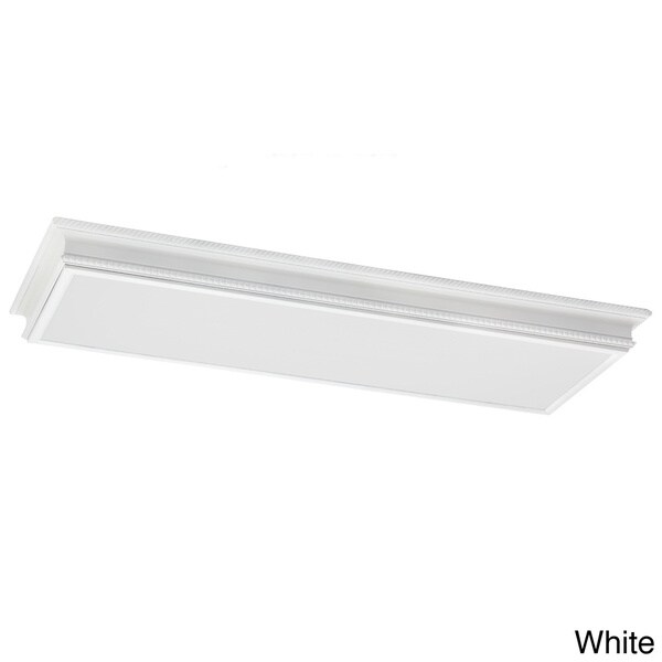 4-light Drop Lens Fluorescent Fixture with White Plastic Acrylic