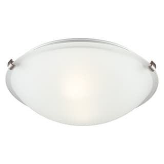 2-light Brushed Nickel Ceiling Flush Mount