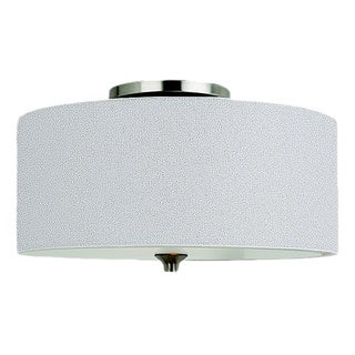 Fluorescent 2-light Stirling Ceiling Flush Mount