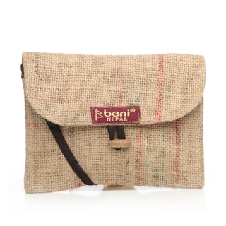 Handmade Recycled Jute Rice-bag Traveler Bag (Nepal)
