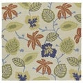 Seaside Whimsical Sand Indoor/ Outdoor Rug (7'9 x 7'9 Square)