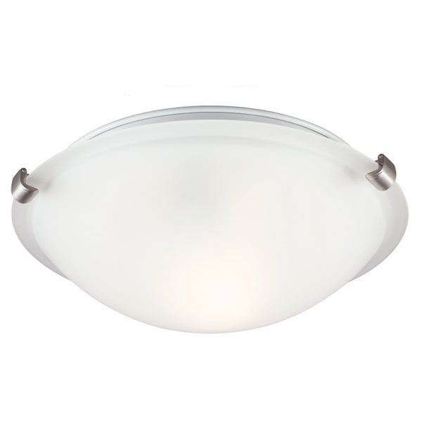 1-light Brushed Nickel Ceiling Flush Mount