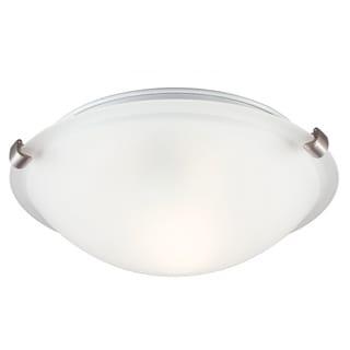 1-light Brushed Nickel Ceiling Flush Mount