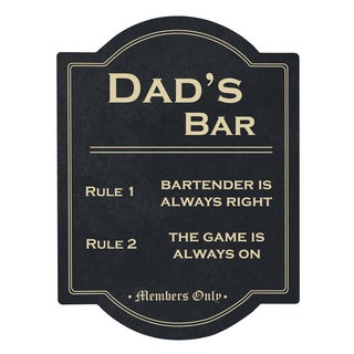 Dad's Bar Rules Sign