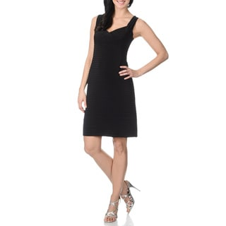 Onyx Womens Pintuck Sleeveless Dress
