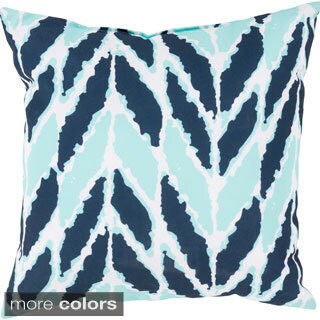 Seaweed Chevron Outdoor Safe Decorative Throw Pillow