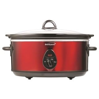 Brentwood SC-150R Red 6.5-quart Slow Cooker