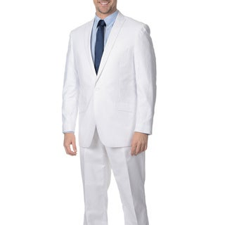 Reflections Men's White 2-piece Linen Suit