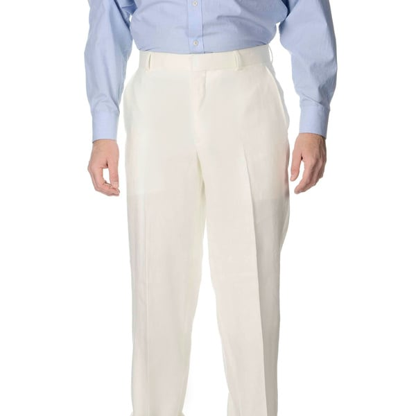 Palm Beach Men's Flat Front Oyster Suit Pants