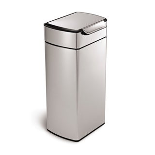 simplehuman 30-liter Rectangular Touch-Bar Waste Can