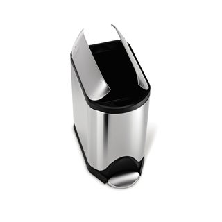 simplehuman Butterfly Step Trash Can, Fingerprint-Proof Brushed Stainless Steel, 20 Liters /5.25 Gallons