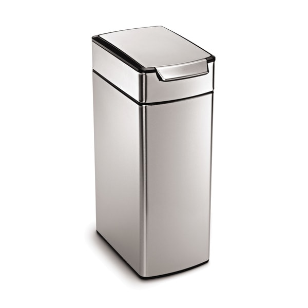 simplehuman 40 Liter Slim Touch-Bar Trash Can