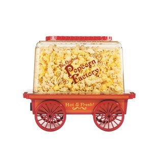Brentwood PC-481 Red Vintage Wagon Popcorn Maker