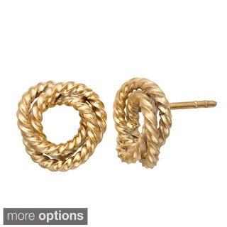 Gioelli Sterling Silver Rope Knot Stud Earrings