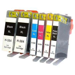 Remanufactured for HP 564XL CB321WN CB323WN CB324WN CB325WN Ink Cartridge (Pack Of 6)