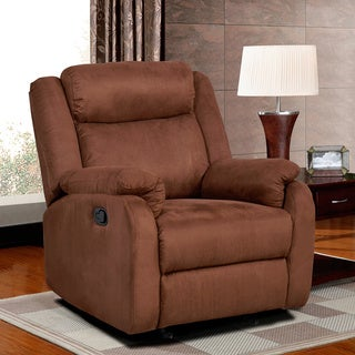 Chocolate Brown Microfiber Glider Recliner