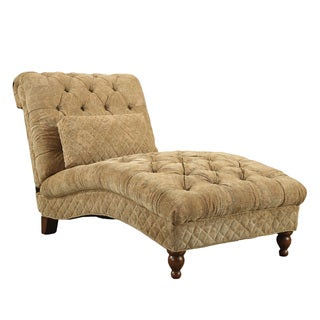 Golden Toned Accent Chaise with Elegant Traditional Style