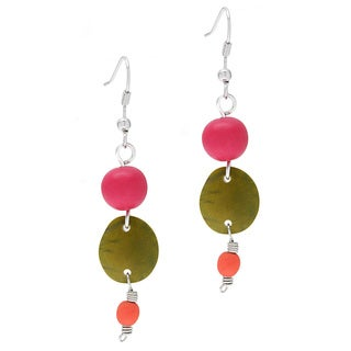 Acai/ Chicon Tips and Chirilla Dangle Earrings (Colombia)