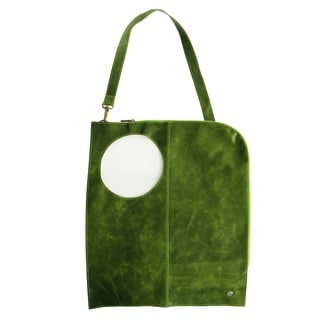 Handmade Green Distressed Leather Multi-use Shoulder Bag (Colombia)