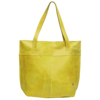 Suba Yellow Distressed Leather Shoulder Bag (Colombia)