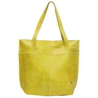 Citron Distressed Leather Shoulder Bag (Colombia)