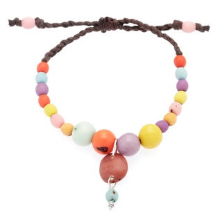 Acai/ Chirilla and Chicon Tip Adjustable Charm Bracelet (Colombia)