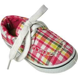 Children's Dawgs Kaymann Boat Shoe Pink Plaid
