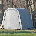 ShelterLogic 10x10-foot Round Grey Storage Shed