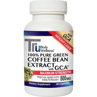 Tru Green Coffee Beans with GCA 800mg Dietary Supplement (60 Count)