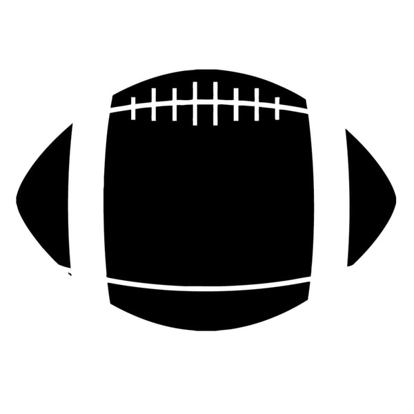American Football Black Vinyl Art Wall Decal