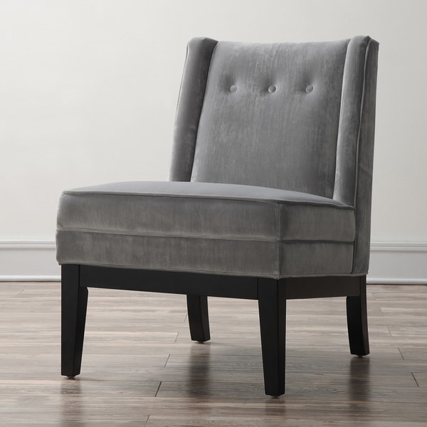 Alexander Grey Velvet Chair