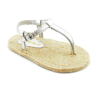Ralph Lauren Layette Girl (Infant) 'Bowman Thong' Man-Made Sandals