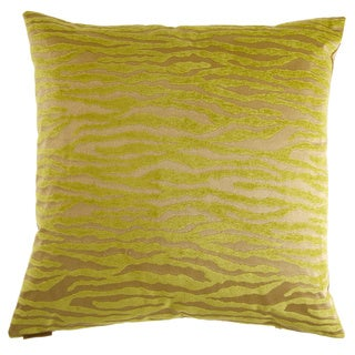 Bengalla Green Decorative Feather Filled Throw Pillow