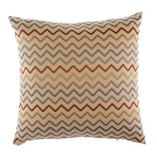 Zigzag Decorative 24-inch Feather Filled Throw Pillow