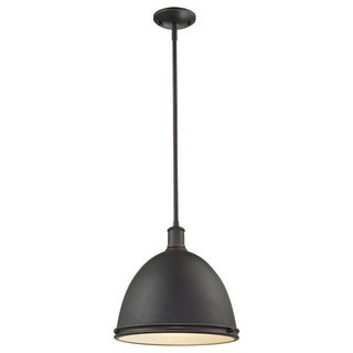 Z-Lite Mason 1-light Hanging Indoor Bronze Pendant