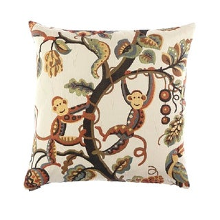 Crazy Monkey Decorative 24-inch Down Filled Throw Pillow